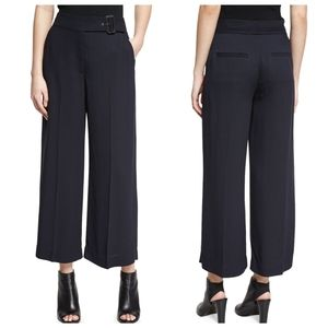 NWT A.L.C. Emily Gaucho Navy Belted Crop Pant